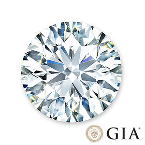 0.75 carat, ideal center diamond with GIA certification.