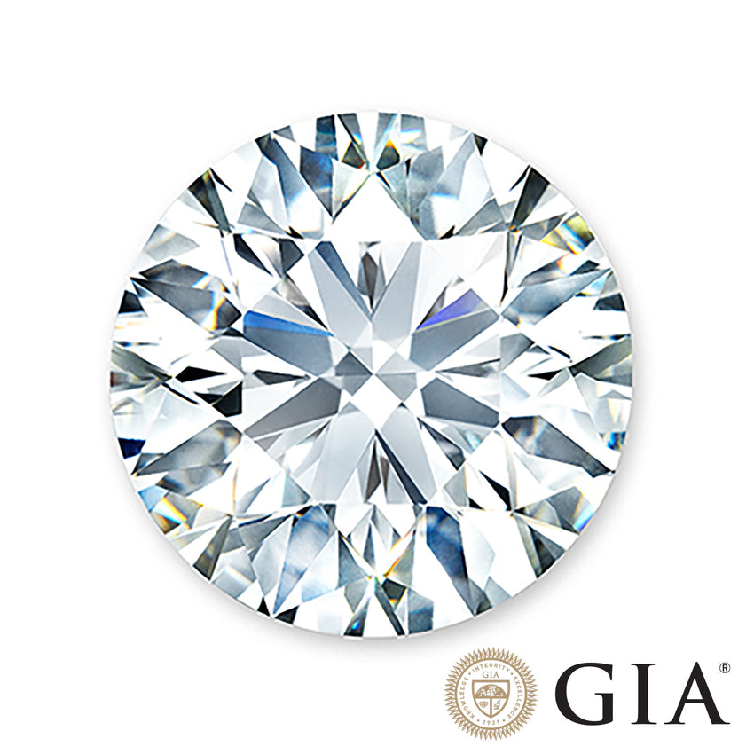 1 carat, ideal center diamond with GIA certification.