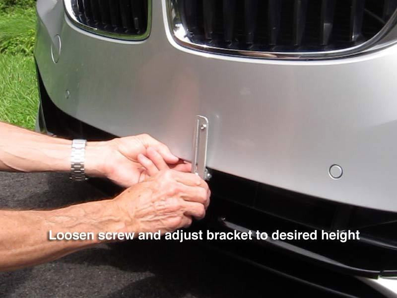 Loosen screw and adjust bracket to desired height