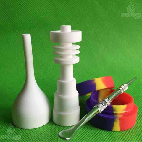 Ceramic nail kit - Carburettor cap, dabbing pick a silicone concentrate pot