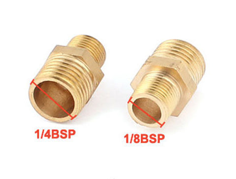 "1/4"" bsp to 1/8"" bsp Male Hex Male Reducer Reducing Nipple Adapter"