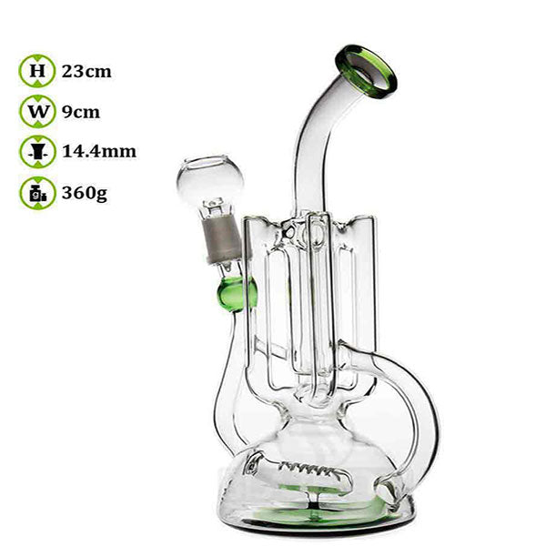 Twisted 17 - 22cm Pipework Glass Recycler Bongs