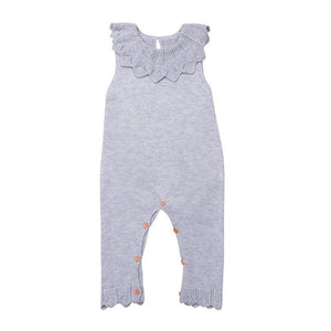 Ruffle Knitted Wool Jumpsuit