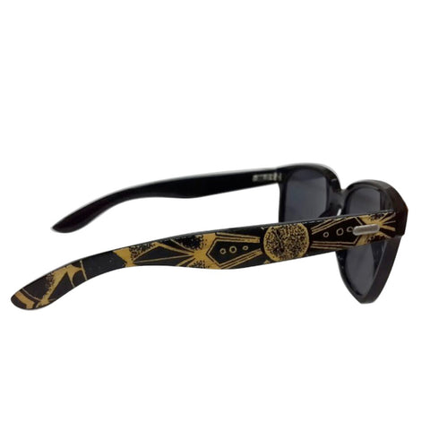 Black Bamboo Wayfarer Sunglasses