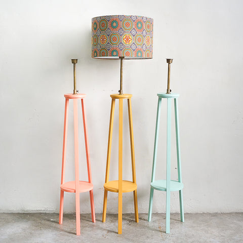 painted lamp stand