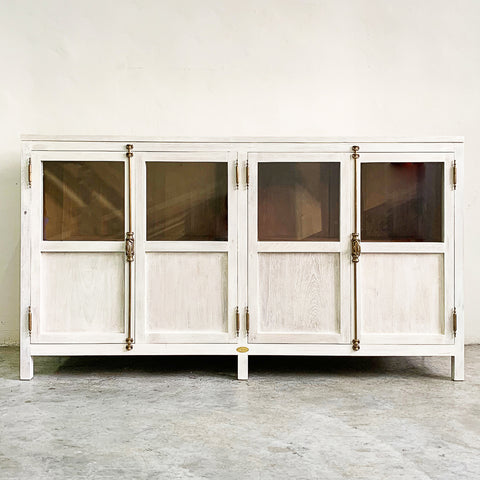 custom made cabinet white wash