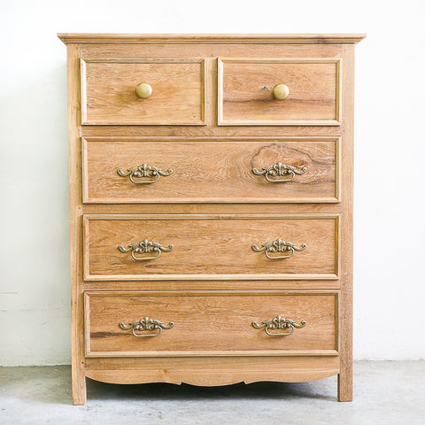 teak and brass chest of drawers singapore