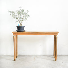 small solid wood console