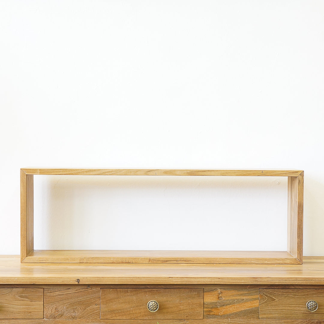teak floating shelf