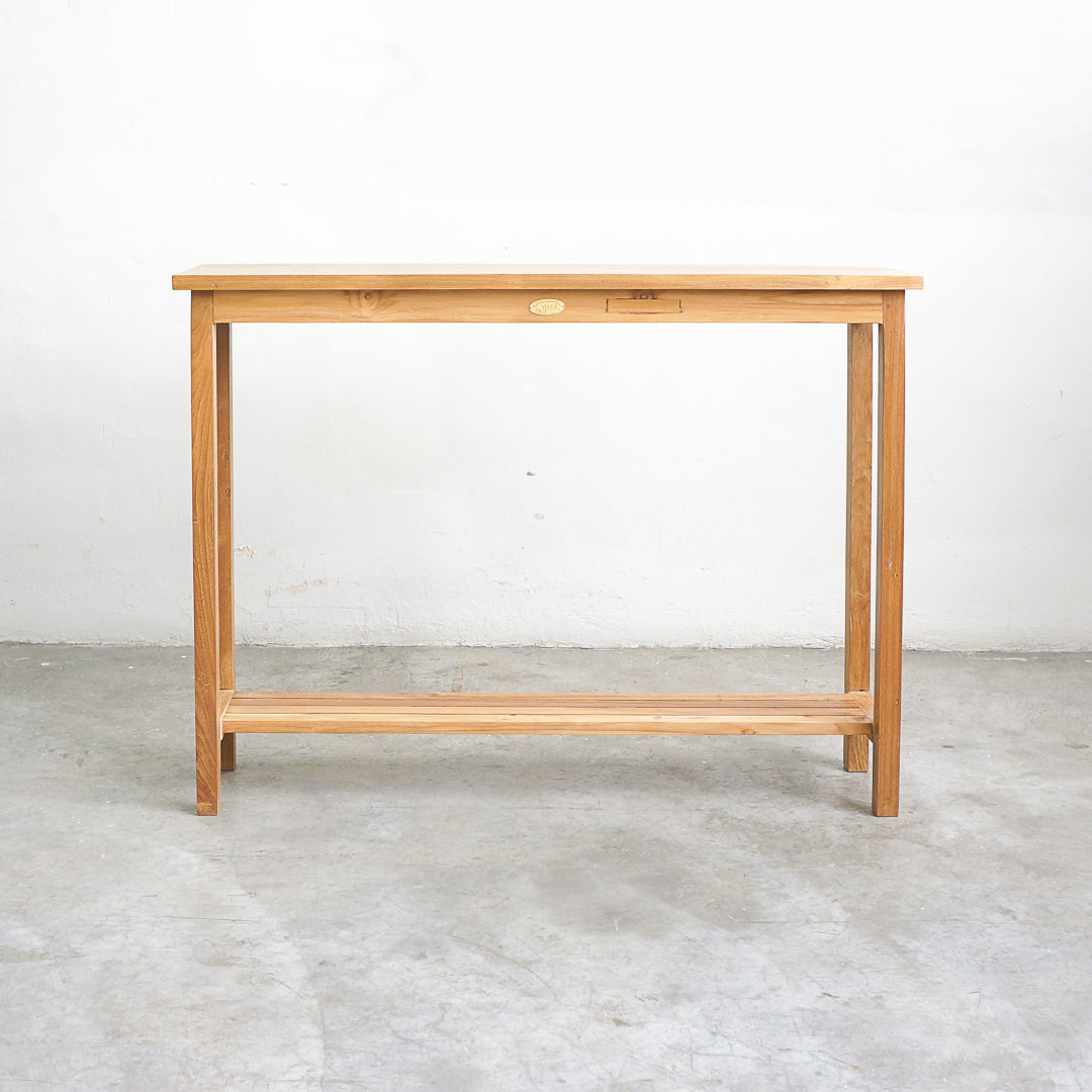 narrow wood console singapore