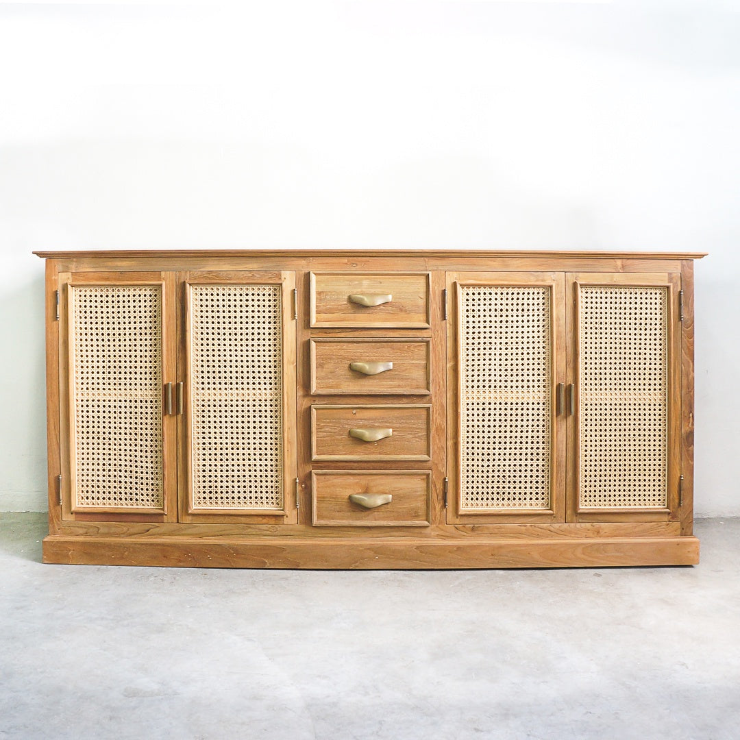 large rattan sideboard buffet