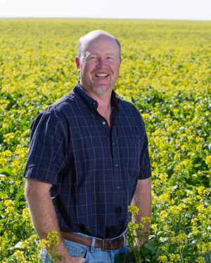 Brad Bailie is a farmer who applies technology to organic agriculture.