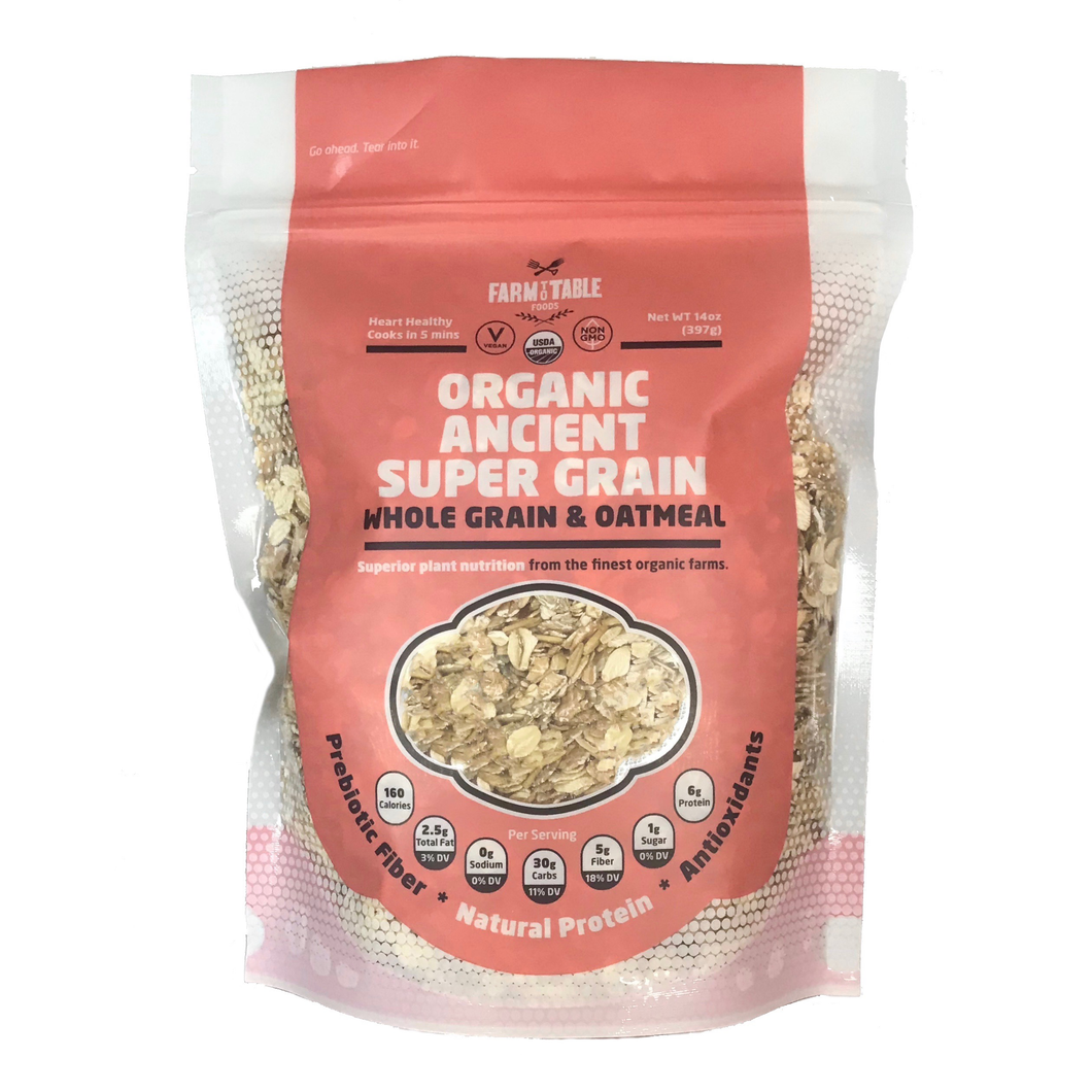 Organic Ancient Super Grain Whole Grain & Oatmeal--3- 14 oz. bags