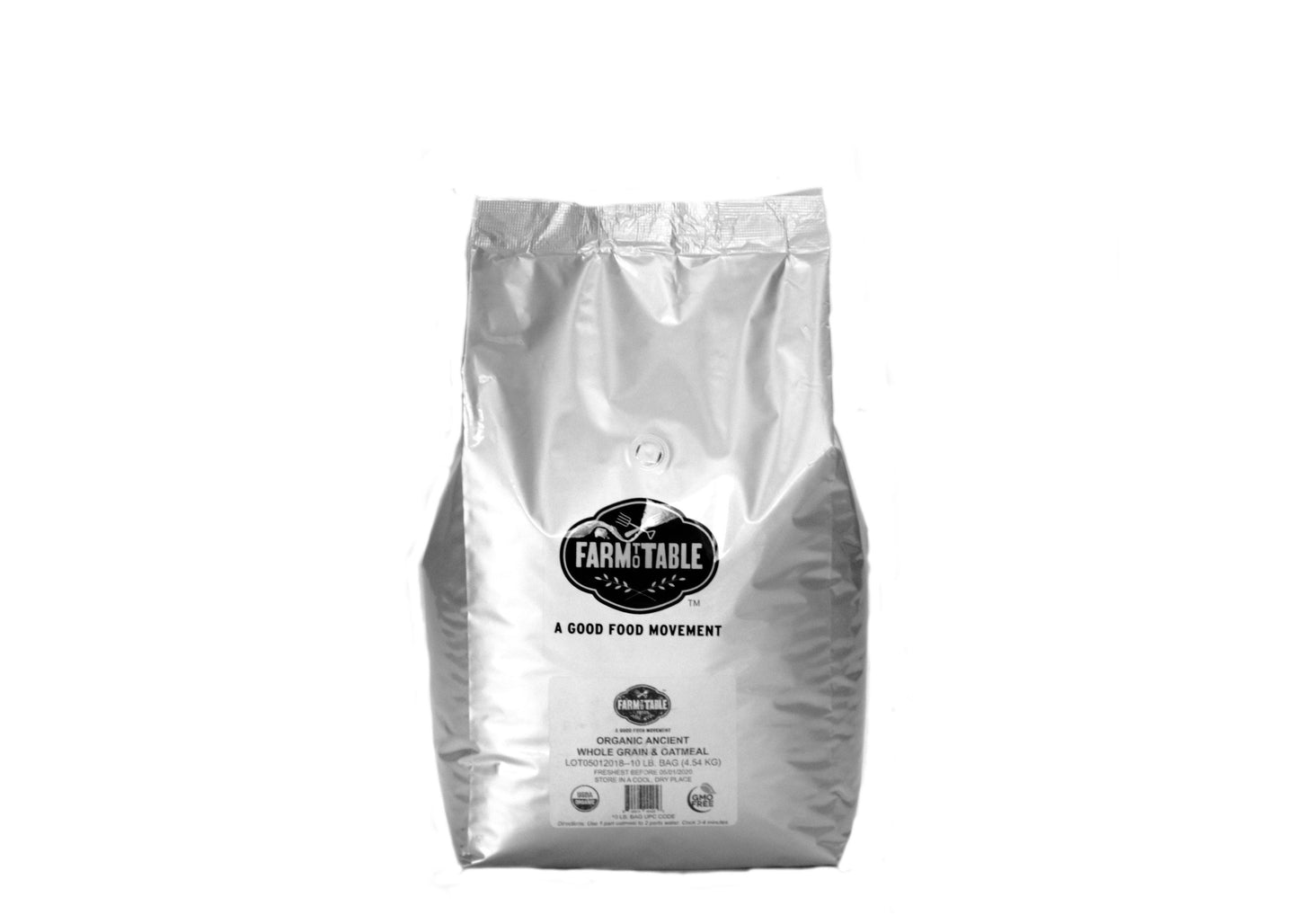 Organic Ancient Super Grain Whole Grain & Oatmeal-10 lb. cafe bag - Farm to Table Foods