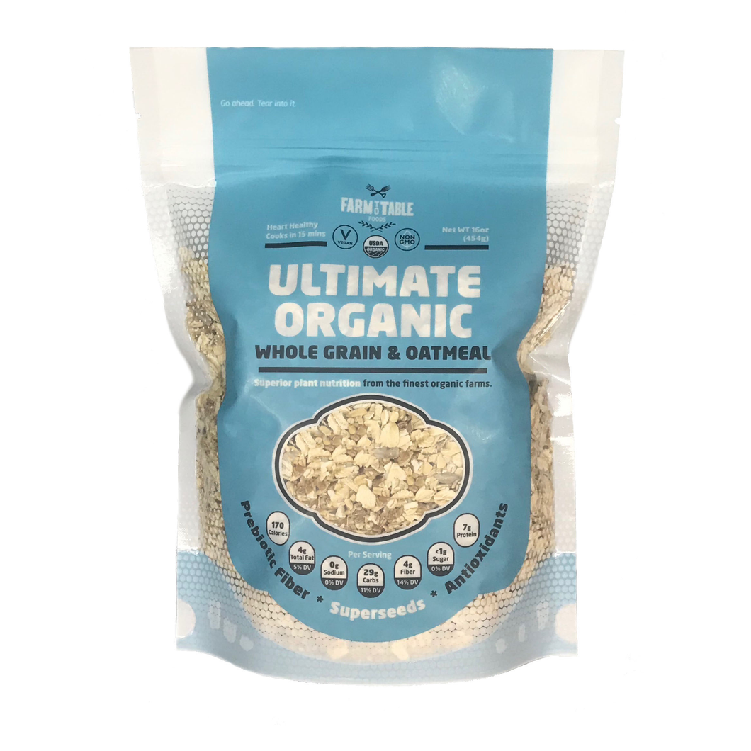 Ultimate Organic Whole Grain & Oatmeal--3- 16 oz bags  Auto renew