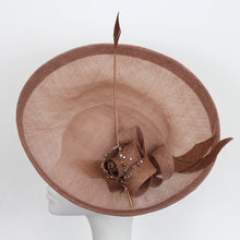 Nude/Rose Gold/Bronze Saucer with Beaded Rose