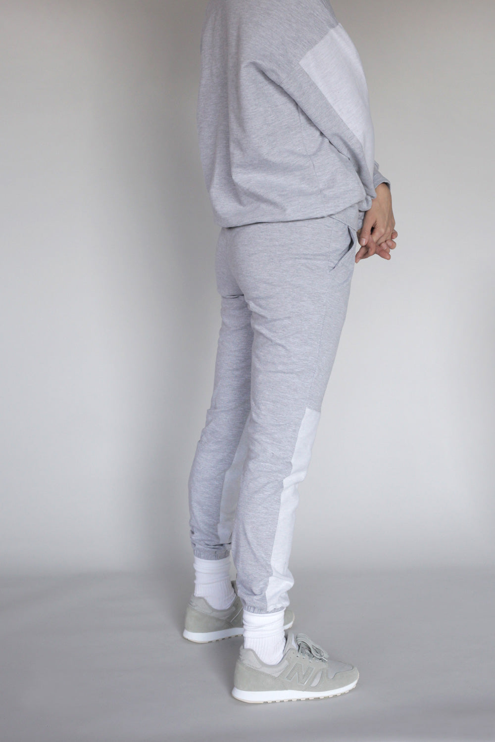 Cotton Jersey Sweatpants Set In Black