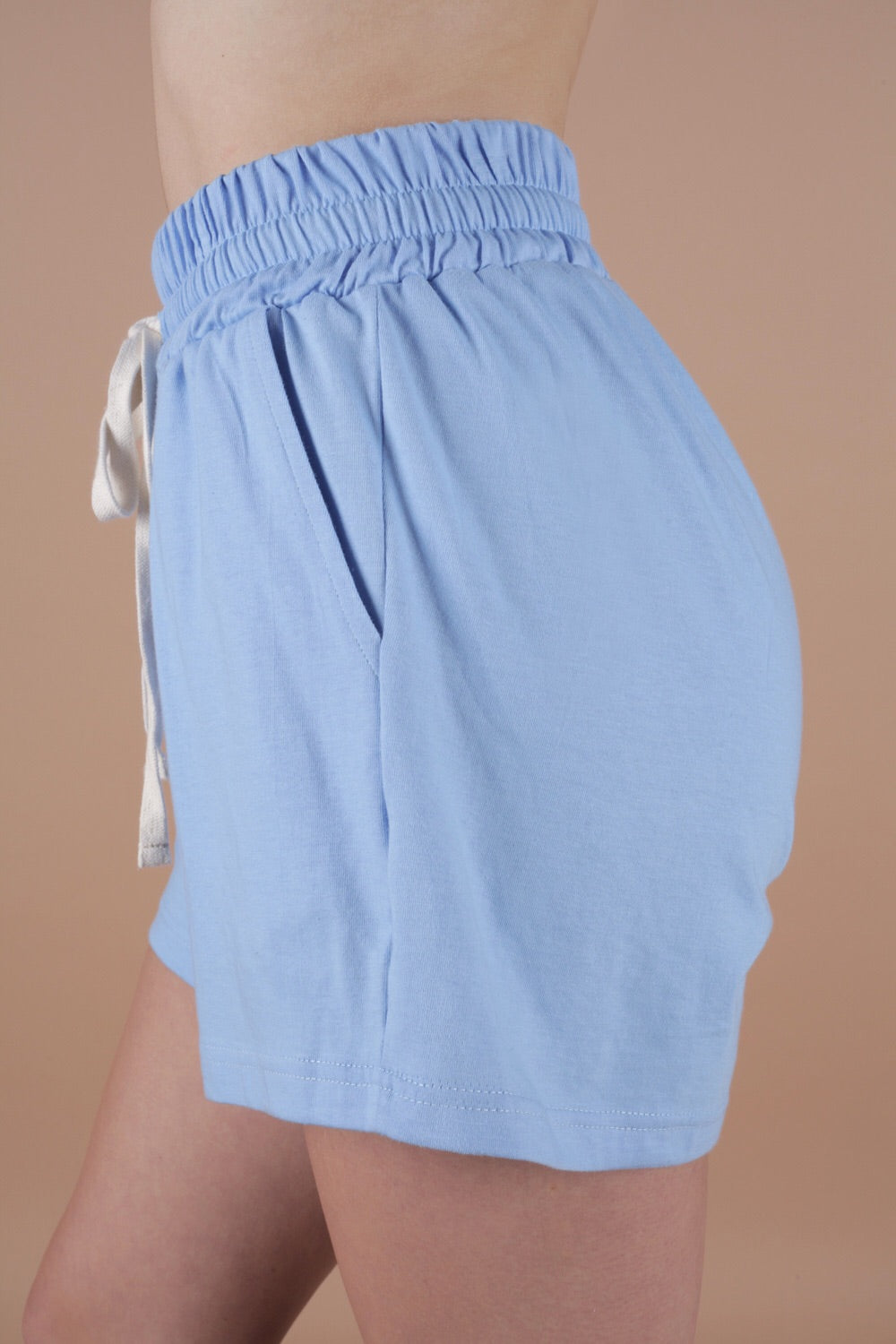 Relaxed Sweat Shorts In Azure