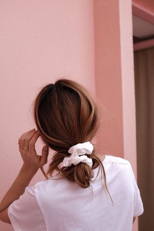 Cotton Jersey Scrunchie - Slate