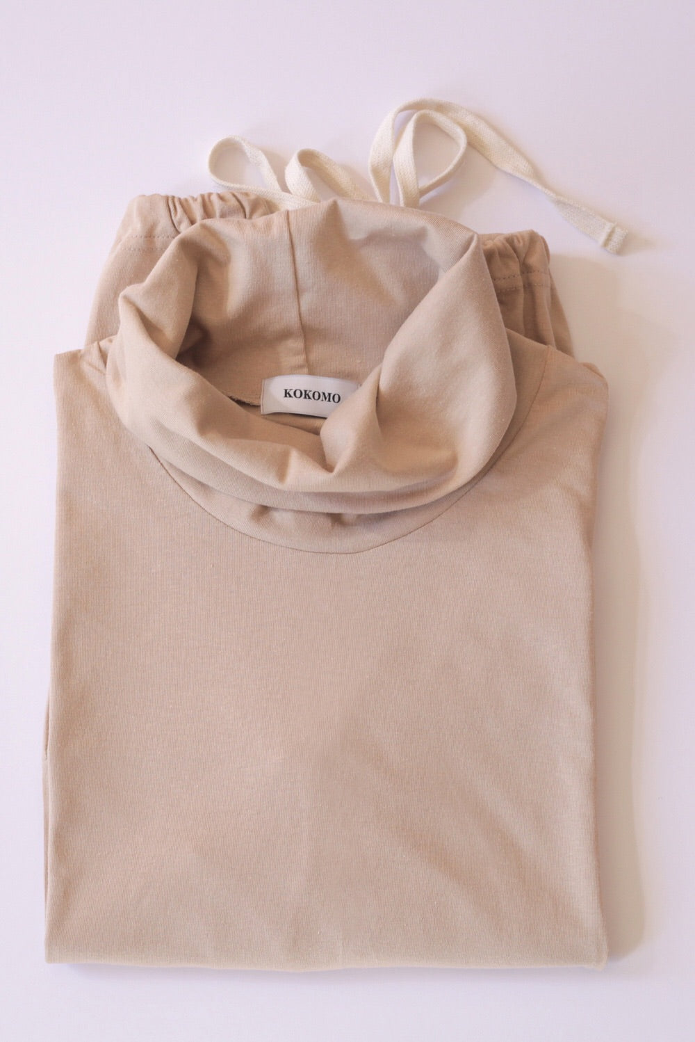 Cotton Jersey Wide Leg Set In Hazelnut