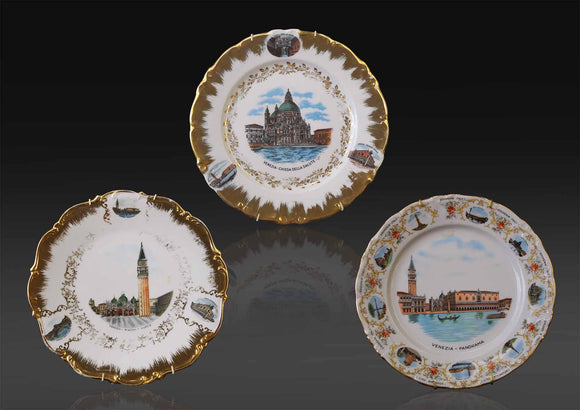 Collection of three German, Tirschenreuth, Bavaria souvenir wall display plate