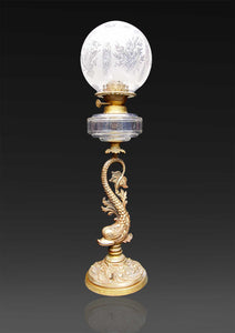 Continental  Brass Oil Lamp
