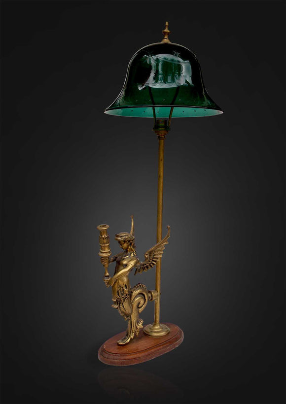 Pair of Colonial Table Lamps with Brass base