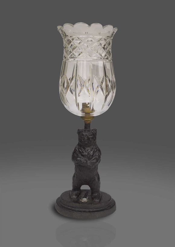 English Cast Iron Bear Table Lamp