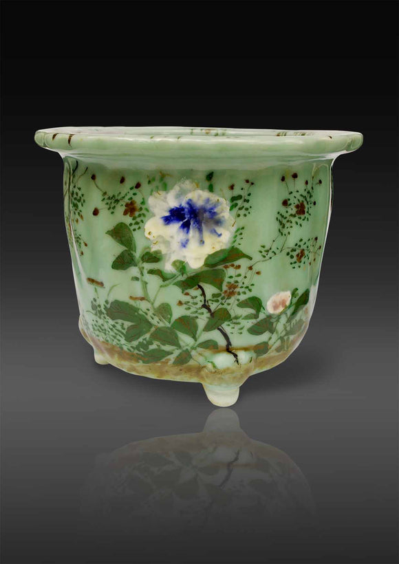 Chinese Celadon Jardiniere - Decorated