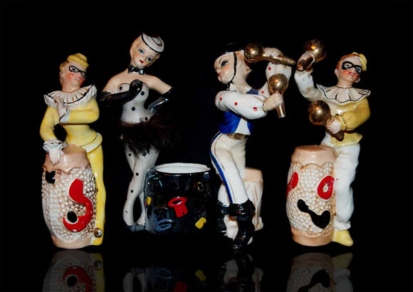 Group of four European Ceramic Musicians
