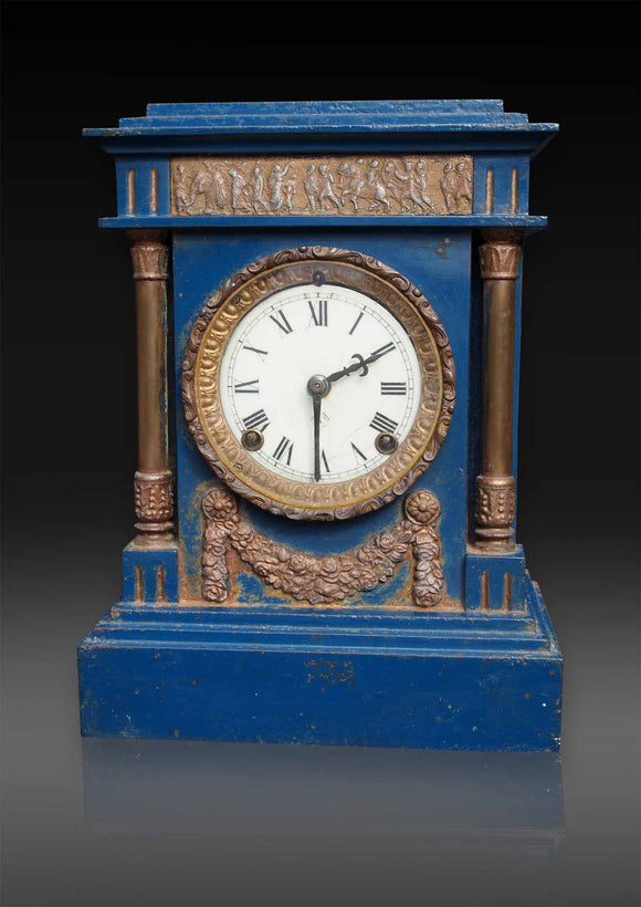 American Cast Iron cased Mantle Clock