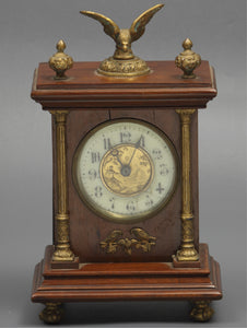 Mahogany Mantle Clock with Brass Ormolu