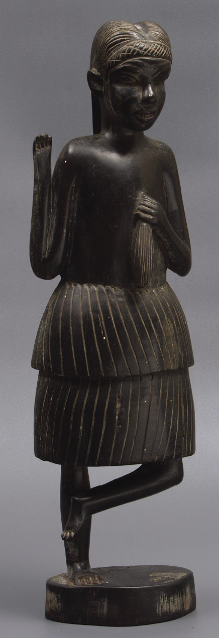 Hardwood Ebony African female figure