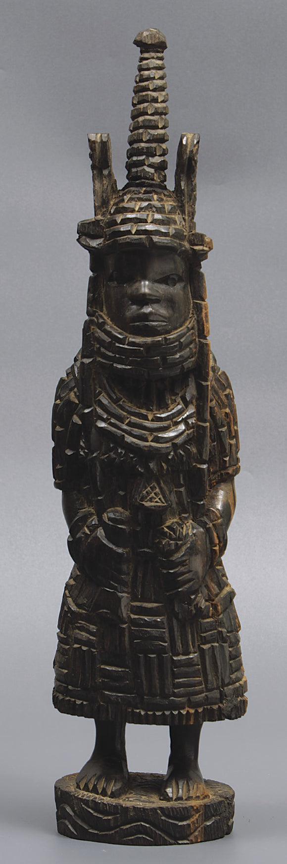 Hardwood Ebony African Tribal Warrior