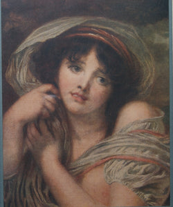 Jean Baptiste Greuze - The Head Of A Girl