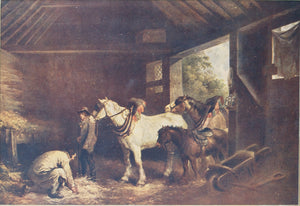 George Morland - The Inside of a Stable