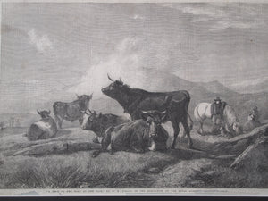 H.B.Willis - THE ILLUSTRATED LONDON NEWS - A Rest on The Road to Fair