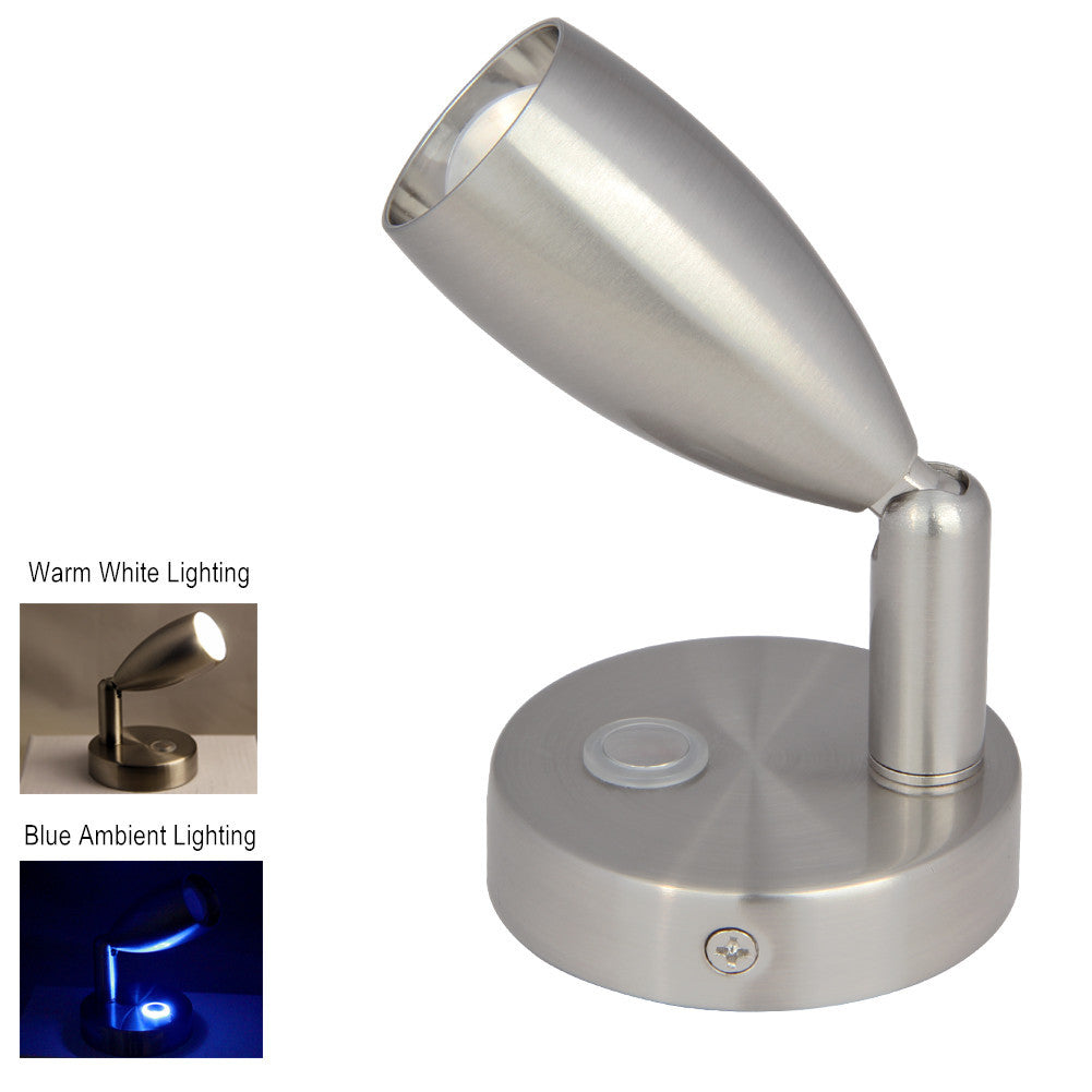 Obeaming rv led reading light with blue mood light dc 12v24v brushed obeaming rv led reading light with blue mood light dc 12v24v brushed nickel arubaitofo Images