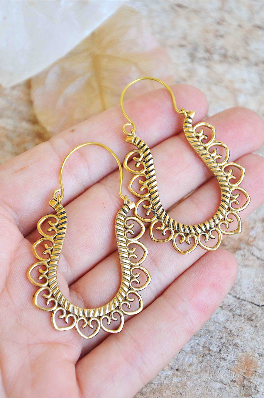 Bohemian Indian Handmade Brass Earrings