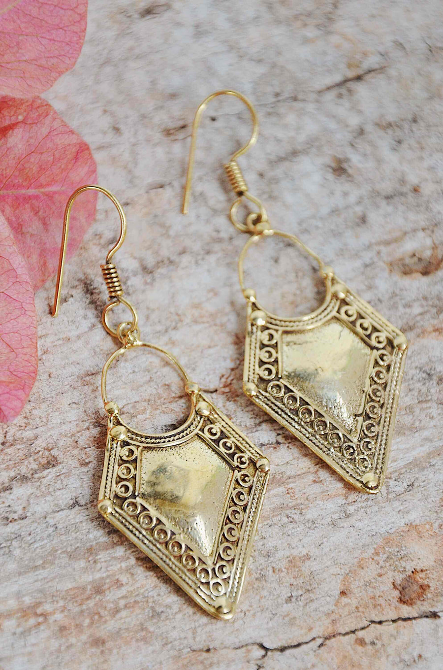 Gold Brass Gypsy Earrings