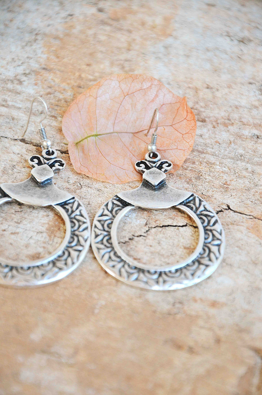 Handmade Silver Hoop Earrings