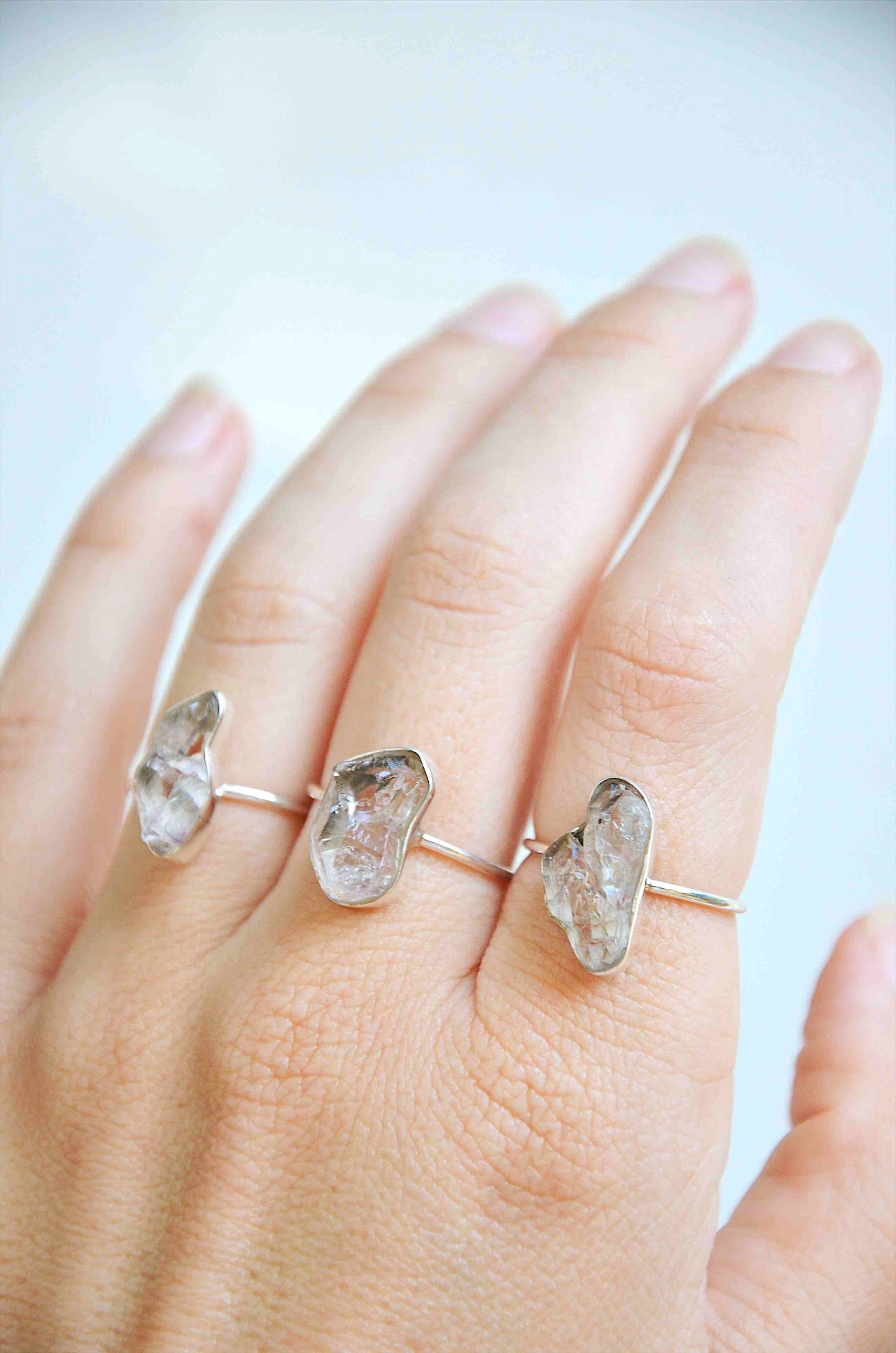 Sterling silver shantique sterling silver herkimer diamond ring junglespirit Images