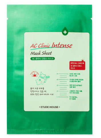 Etude House AC Clinic Intense Mask - x1 Sheet - The BB Cream Girl Store