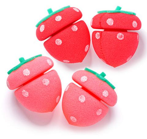 ETUDE HOUSE My Beauty Tool Strawberry Sponge Hair Curlers - (4pcs) - The BB Cream Girl Store