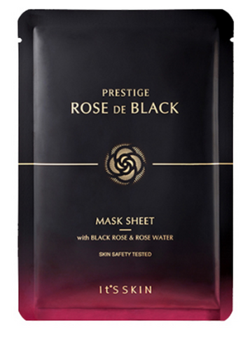 It'S SKIN Prestige Rose De Black Mask Sheet - x1 Sheet - The BB Cream Girl Store