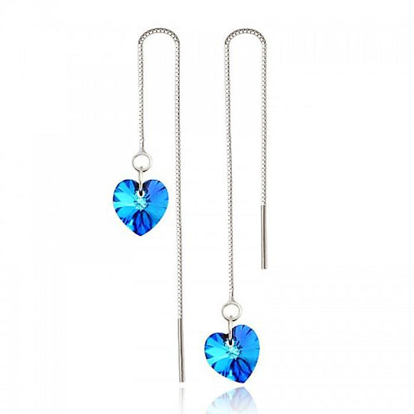 Sterling Silver Ocean Blue Earrings - Posh N Popular Jewelry