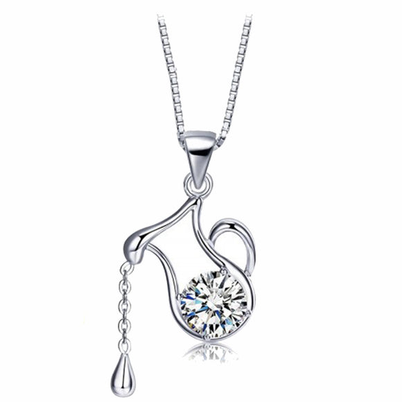 925 Sterling Silver Water Pitcher Pendant Necklace - Posh N Popular Jewelry
