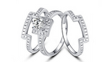 Sterling Silver 3pcs Ring - Posh N Popular Jewelry