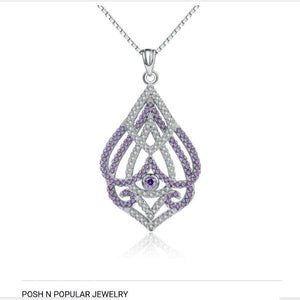 Abstract Sterling Silver Necklace - Posh N Popular Jewelry