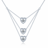 925 Sterling Silver Necklace with Dancing Stone - Posh N Popular Jewelry